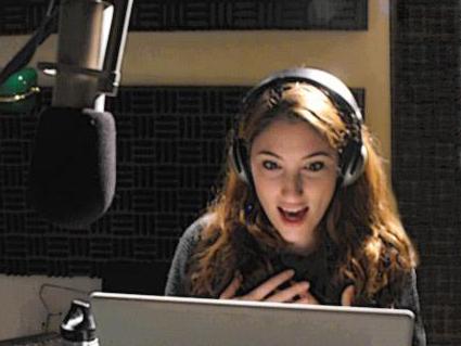 Deborah at the VO mic