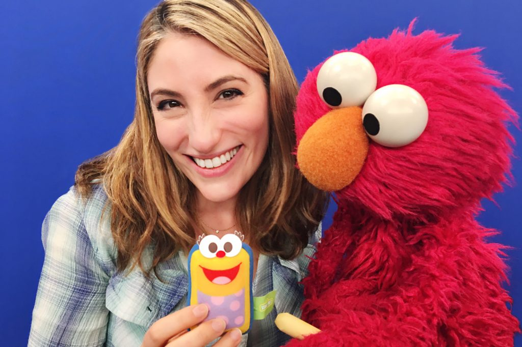 Deborah (Smartie) with Elmo