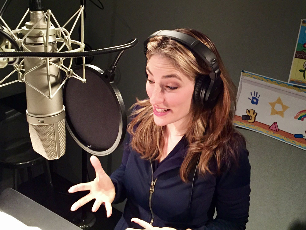 Deb in the VO booth