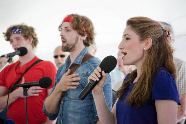 National Anthem at Shake & Co July 4th celebration (Photo by Kevin Sprague–Studio Two)